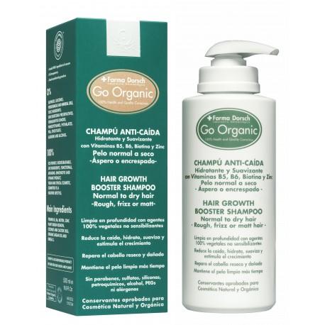 Champú Go Organic - Anticaída Hidratante y Suavizante (500 ml)